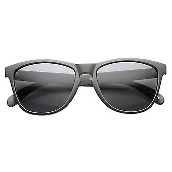 Action Sport Retro Keyhole Horned Rimmed Sunglasses
