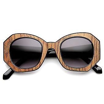 Mody bloku cięcia okulary damskie sześciokątne