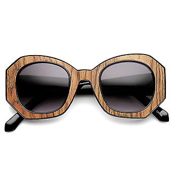High Fashion Block Cut Hexagonal Womens Sunglasses