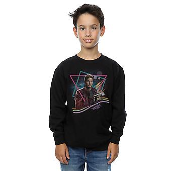 Marvel Boys Guardians Of The Galaxy Neon Star Lord Sweatshirt