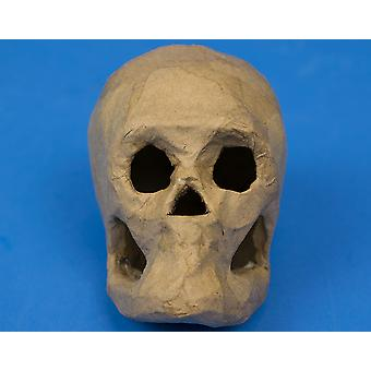 Paper Mache Skull to Decorate for Halloween Crafts - 10cm