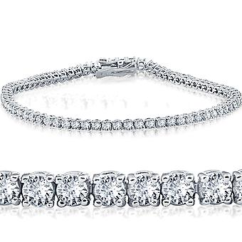 2 cttw oro bianco con diamanti Bracciale Tennis 14 KT 7