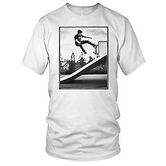 Pattinatore rampa Stunt - B&W Skateboarder Skateboard Mens T-Shirt