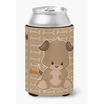 Carolines Treasures  BB7075CC Puppy on Brown Bones Can or Bottle Hugger