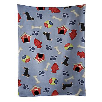 Dog House Collection Black Tan Dachshund Kitchen Towel