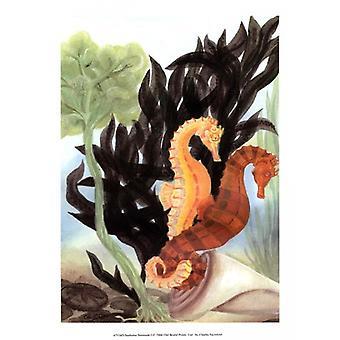Seahorse Serenade I Poster Print by Charles Swinford (10 x 13)