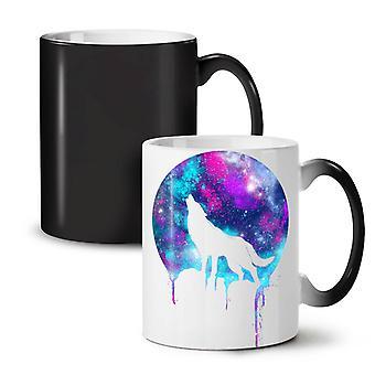 Forest Wolf Moon Light NEW Black Colour Changing Tea Coffee Ceramic Mug 11 oz | Wellcoda