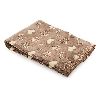 Ancol Pet Products Sleepy Paws Dog And Cat Patterned Blanket