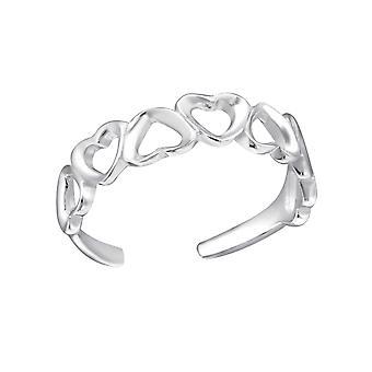 Hjerter - 925 Sterling sølv Toe ringer - W21057x