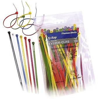 Cable tie 186 mm Black, Brown, Red, Orange, Yellow, Green, Blue, Purple, Grey, White