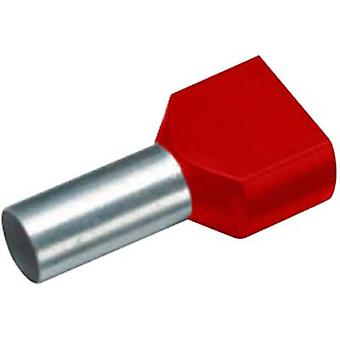 Twin ferrule 2 x 1 mm² x 8 mm Partially insulated Red Cimco