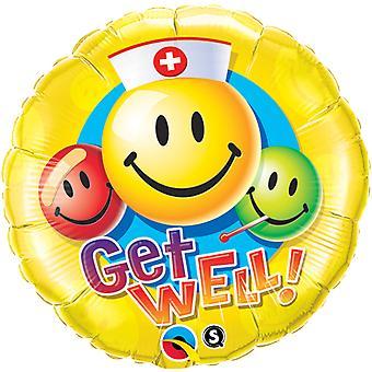 Folienballon Get Well Gesundheit Gute Besserung circa 45cm