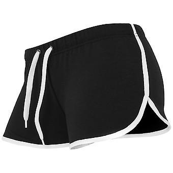 Urban classics ladies - black FRENCH TERRY Hotpants