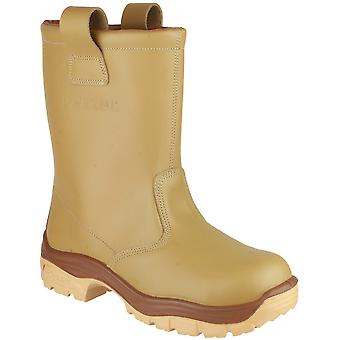 Pezzol Mens Arctic 271 Pull On S3 Work Safety Boot Brown