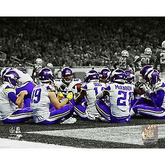 Minnesota Vikings 2017 Touchdown Celebration Spotlight Photo Print