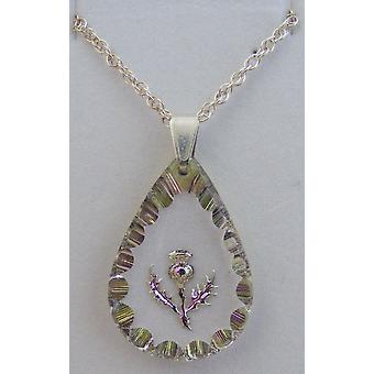 Heather Medium Teardrop Thistle Crystal Pendant