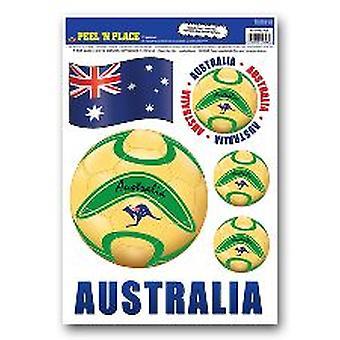 Cáscara de Australia n Coloque pegatinas removibles
