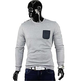 Men shirt long sleeve long sleeve shirt Figurbetont sweater clubwear