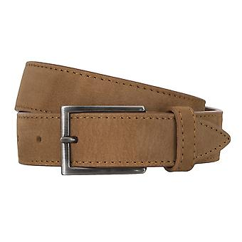 BALDESSARINI belt leather belts men's belts beige 4676