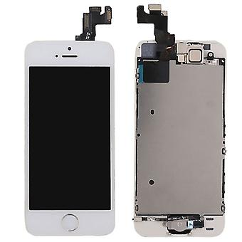 All in One Display LCD Komplett Ersatz Einheit Touch Panel für Apple iPhone 5S + Homebutton Weiß