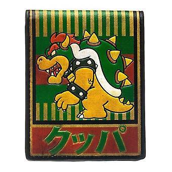 NINTENDO Super Mario Bros Bowser Kanji Bi-Fold Geldbörse grün (MW1PX3SMB)