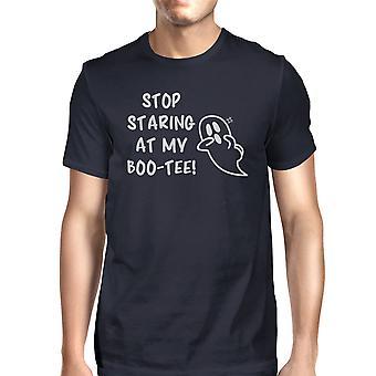 Stop Staring At My Boo Mens Navy T-Shirt Halloween Matching Shirts