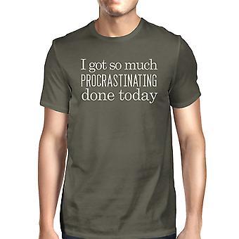 Procrastinating Done Today Mens Dark Gray Funny Saying Graphic Tee