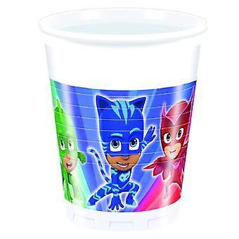 PJ masks Pyjama heroes party Cup drinking cups 200 ml 8 piece children birthday theme party