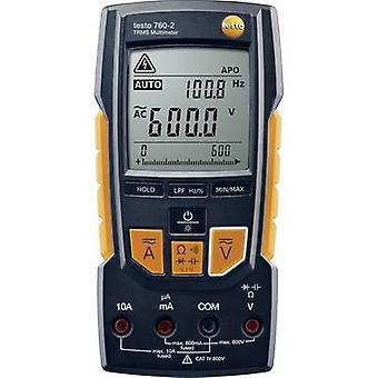 testo 760-2 Handheld multimeter Digital Calibrated to: Manufacturer's standards (no certificate) CAT III 1000 V, CAT IV