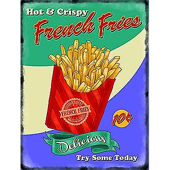 French Fries Retro Vintage Style Small Steel Sign 200Mm X 150Mm