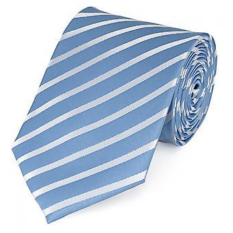 Krawat krawat krawat krawat 8cm jasny niebieski Fabio Farini biały paski