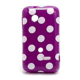 Protective case for mobile phone Sony Xperia tipo ST21i ST21a purple / violet