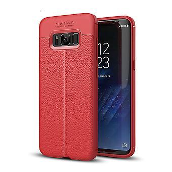 Handy Hülle Schutz Case für Samsung Galaxy S8 Cover Rahmen Etui Rot