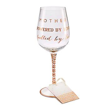 Here's To You Megan Claire Mother Wine Glass