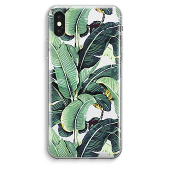 iPhone XS Max Transparent Case (Soft) - Banana leaves