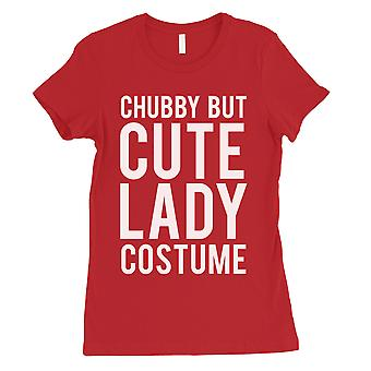 Chubby But Cute Lady Costume Womens Red T-Shirt