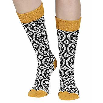 Kingsley recycled cotton patterned crew socks in prudence | Sidekick