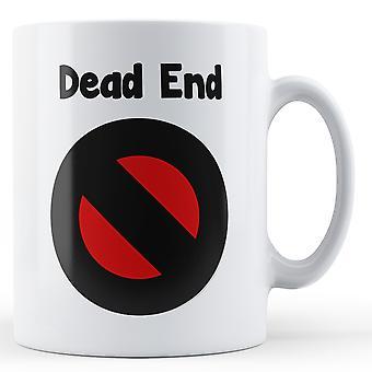 Dekoracyjne piśmie Dead End czarny czerwony Symbol - kubek z nadrukiem