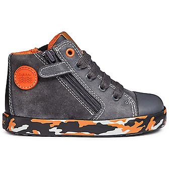 Geox Boys Kilwi B74A7B Boots Dark Grey Orange