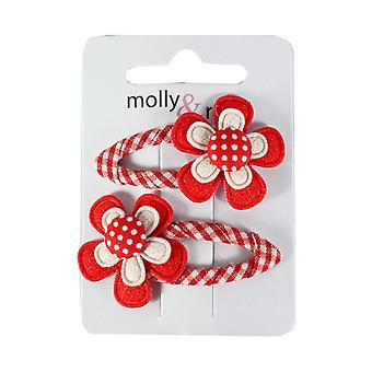 Molly & Rose Gingham Hair Sleepies Red
