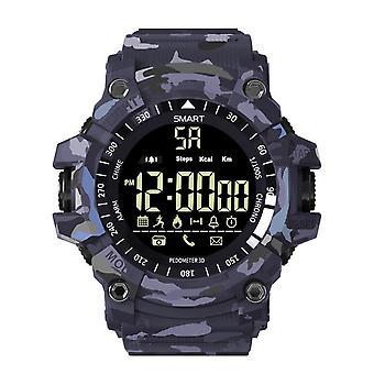EX16 Plus Sport wodoodporny kamuflaż Smartwatch niebieski