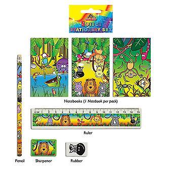 24 Jungle 5-tlg Briefpapiersets