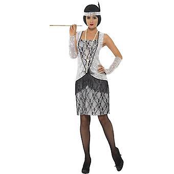 Flapper Costume, UK Dress 16-18