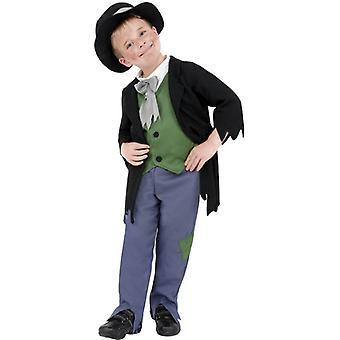 Sprytny chłopca wiktoriańskiej kostium, mały w wieku 4-6