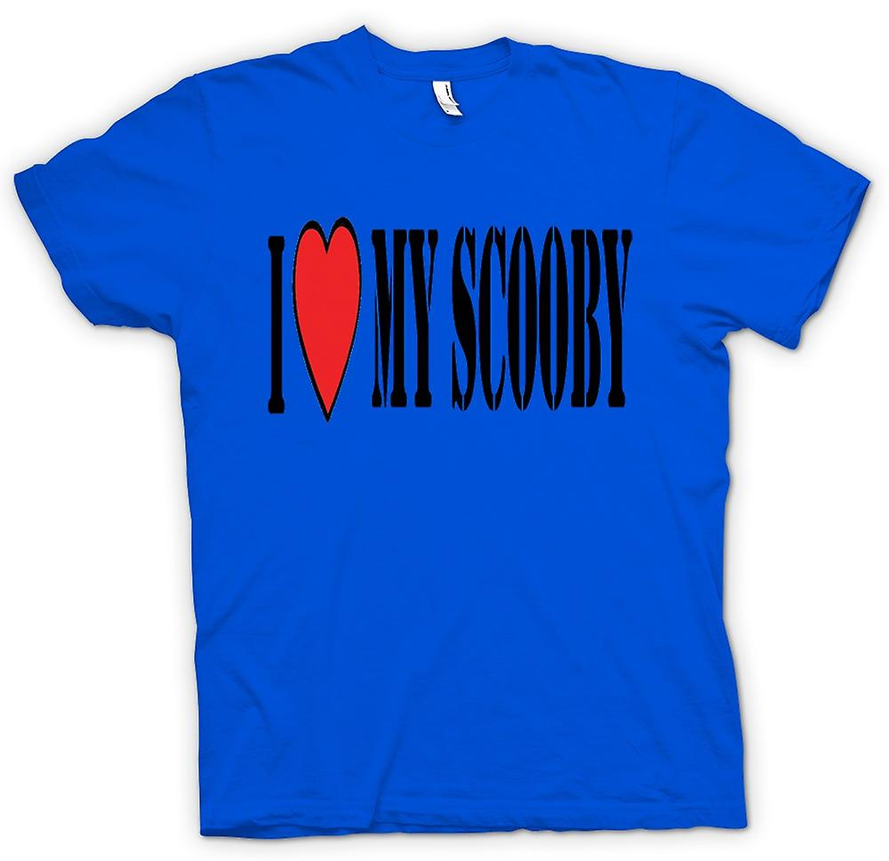 Mens T-shirt - I Love My Scooby Subaru - Car