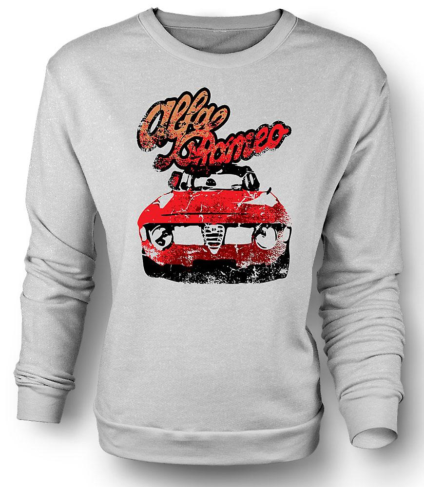 Mens Sweatshirt Alfa Romeo Classic Car
