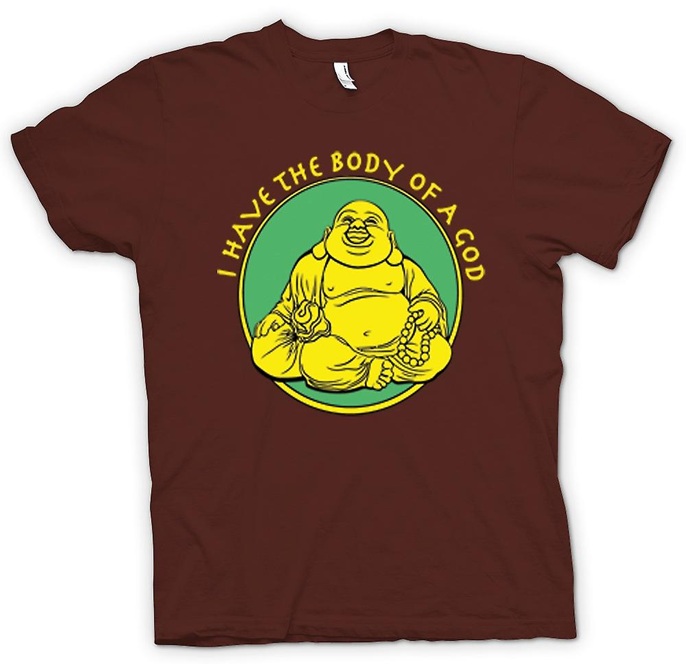 Mens T-shirt - I Have The Body Of A God - Golden Buddah