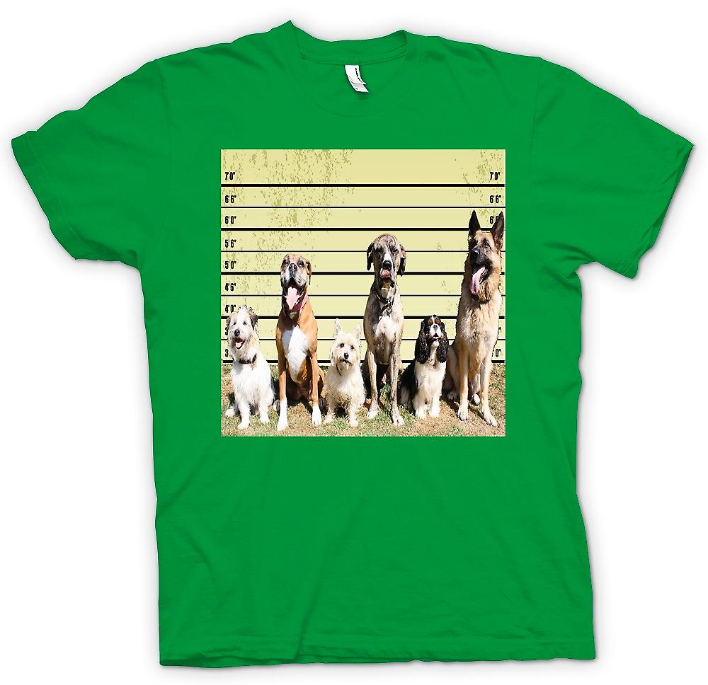 Mens T-shirt - Pet Dog Police Line Up