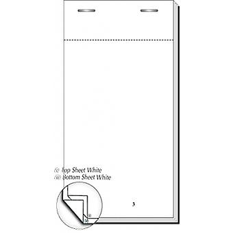 Restaurant Pads / Waiter Order Pads - 2 Ply White - 50 Sheets per Pad - 100 Pads per Box