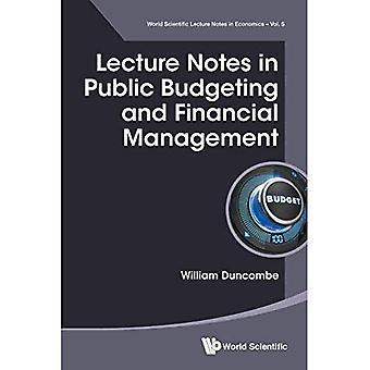 Notas de la Conferencia en presupuesto público y administración financiera